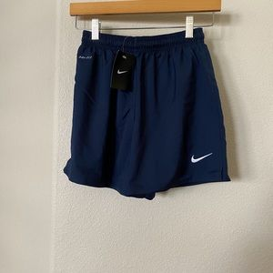 NWT Nike navy and white shorts